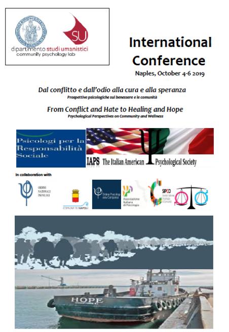 Aggiornamenti: Dal conflitto e dall'odio alla cura e alla speranza – From Conflict and Hate to Healing and Hope 4-6 Ottobre, Napoli